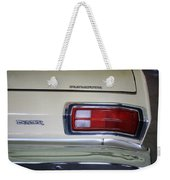 1974 Plymouth Duster Tail Light With Logos Weekender Tote Bag