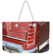 1977 Lincoln Continental Mark V With Tail Lights And Logo Weekender Tote Bag