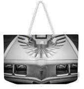 1979 Pontiac Trans Am Hood Firebird -0812bw Weekender Tote Bag