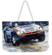 1986 Porsche 959/50 #185 2nd Dakar Rally Raid Ickx, Brasseur Weekender Tote Bag