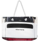 1987 White Porsche 911 Carrera Back Weekender Tote Bag