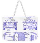1990 Porsche 911 Patent Blueprint Weekender Tote Bag