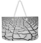1a6832 Bw Mud Cracks In Death Valley Weekender Tote Bag