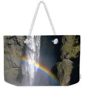 1m4716 Snoqualmie Falls And Rainbow Weekender Tote Bag