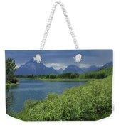 1m9236 Mt. Moran And Sticky Geranium Weekender Tote Bag