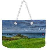 1st Green Cape Cornwall Golf Club Weekender Tote Bag by Chris Thaxter