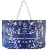 1887 Baseball Mask Patent Blue Weekender Tote Bag
