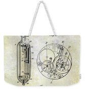 1913 Pocket Watch Patent Weekender Tote Bag