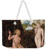 A Faun And His Family With A Slain Lion Weekender Tote Bag