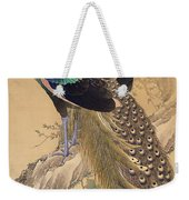 A Pair Of Peacocks In Spring Weekender Tote Bag
