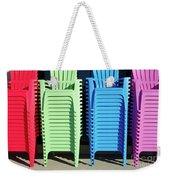 A Rainbow Of Chairs Weekender Tote Bag