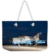 A Romanian Air Force Mig-21c Airplane Weekender Tote Bag