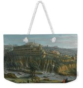 A View Of The Waterfalls And The Villa Of Maecenas Weekender Tote Bag
