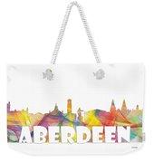 Aberdeen Scotland Skyline Weekender Tote Bag