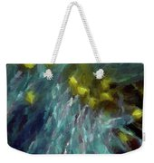 Abstract 92 Digital Oil Painting On Canvas Full Of Texture And Brig Weekender Tote Bag