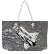 Aerial View Of Space Shuttle Discovery Weekender Tote Bag by Stocktrek Images