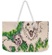 American Eskimo Dog Weekender Tote Bag