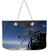 An F-15 Eagle Pulls Into Position Weekender Tote Bag by HIGH-G Productions