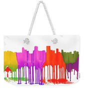 Anchorage Alaska Skyline Weekender Tote Bag
