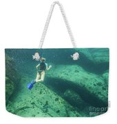 Apnea In Tropical Sea Weekender Tote Bag