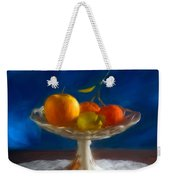Apple, Lemon And Mandarins. Valencia. Spain Weekender Tote Bag