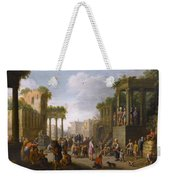 Architectural Ruin With A Crowd Weekender Tote Bag