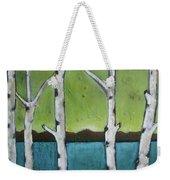 Aspen Trees On The Lake Weekender Tote Bag