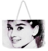 Audrey Hepburn, Vintage Actress Weekender Tote Bag