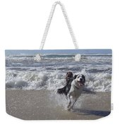 Australia - Border Collie Runs Out Of The Surf Weekender Tote Bag