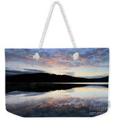 Autumn Sunset, Ladybower Reservoir Derwent Valley Derbyshire Weekender Tote Bag