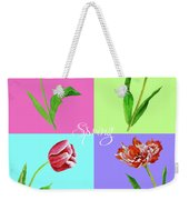Background With Tulips Weekender Tote Bag