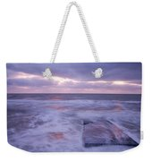 Ballyconnigar Strand At Dawn Weekender Tote Bag