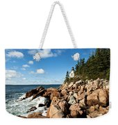 Bass Harbor Light Weekender Tote Bag