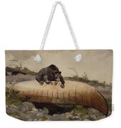 Bear And Canoe Weekender Tote Bag