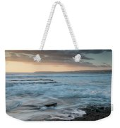 Beautiful Dramatic Sunset Over A Rocky Coast Weekender Tote Bag