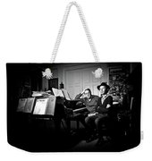 Beck And Philip Glass Photographed By Anna Webber, September 23rd, Weekender Tote Bag