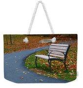 Bench On The Walk Weekender Tote Bag by Rick Morgan