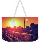 Berlin - Sunset Skyline Weekender Tote Bag