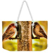 2 Bird's Eating  Weekender Tote Bag