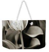 Black And White Tulip Weekender Tote Bag