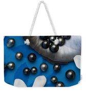 Black Pearls And Tiare Flowers Weekender Tote Bag