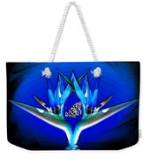 Blue Bird Of Paradise Weekender Tote Bag