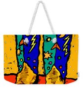 Boots On Yellow Weekender Tote Bag