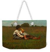 Boys In A Pasture Weekender Tote Bag