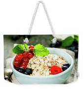 Breakfast With Oats And Berries Weekender Tote Bag