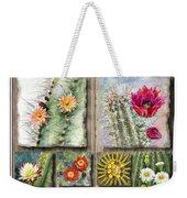 Cactus Collage Weekender Tote Bag