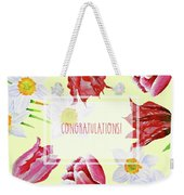 Card With Spring Flowers Weekender Tote Bag