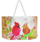 Cardinals Painted By Linda Sue Weekender Tote Bag