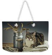 Cat Portrait Weekender Tote Bag