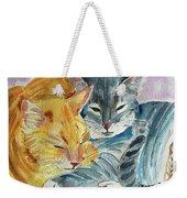 Kitty And Kat Weekender Tote Bag